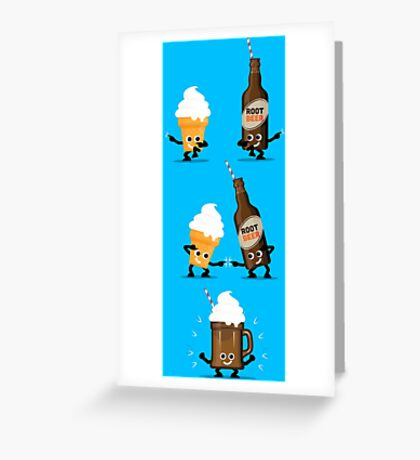 Character Fusion - Root Beer Float Greeting Card
