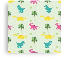 Ornament with dinosaurs Canvas Print