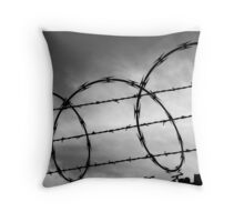 """ Keep Out.   Stay Inside."" Throw Pillow"