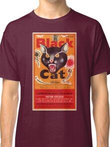 Vintage Fireworks Label:  Black Cat Firecrackers Classic T-Shirt