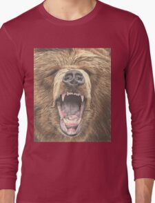 Growling Bear Long Sleeve T-Shirt