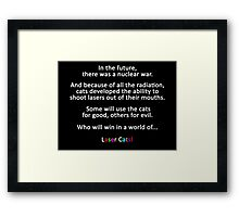 In The Future... Laser Cats Title Card Framed Print