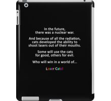 In The Future... Laser Cats Title Card iPad Case/Skin