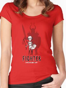 AFTER SCHOOL WARRIORS: FIGHTER Women's Fitted Scoop T-Shirt