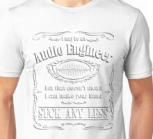 Audio Engineer Band Recording T-Shirt Unisex T-Shirt