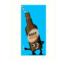 Character Fusion - Just Root Beer Art Print