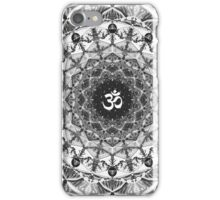 BLACK WHITE OM MANDALA iPhone Case/Skin