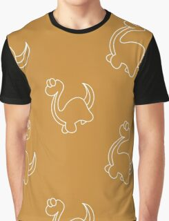 Ornaments with silhouettes of dinosaurs Graphic T-Shirt