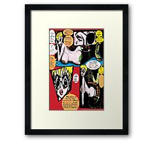 """Space Chick & Nympho: Vampire Warrior Party Girl Comix #1- Comic Page """"Feels Like A Kiss"""" Framed Print"""