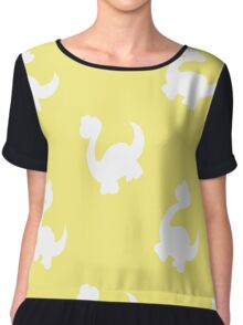 Ornaments with silhouettes of dinosaurs Chiffon Top