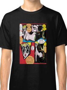 """Space Chick & Nympho: Vampire Warrior Party Girl Comix #1- Comic Page """"Feels Like A Kiss"""" Classic T-Shirt"""