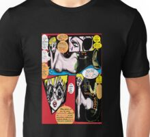 "Space Chick & Nympho: Vampire Warrior Party Girl Comix #1- Comic Page ""Feels Like A Kiss"" Unisex T-Shirt"