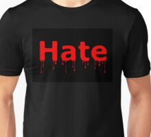 Hate Blood Text Black Unisex T-Shirt