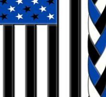 Black White and Blue All Lives Matter American Flag Sticker