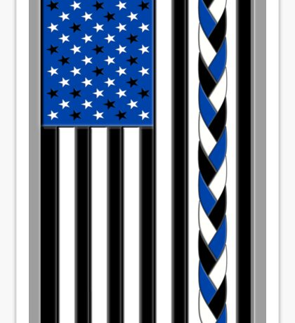 Black White and Blue All Lives Matter American Flag Sticker