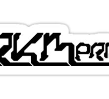 ARKMprime (black logo) Sticker
