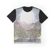 Harvest Moon Watercolor Graphic T-Shirt