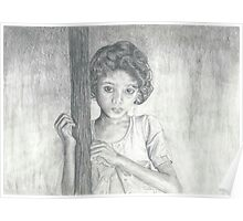Young Girl Soul Pencil Drawing Poster