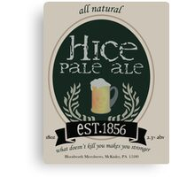 Hice Pale Ale Canvas Print