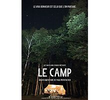 Affiche // Le Camp Photographic Print