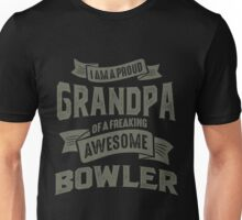 Proud Grandpa of an Awesome Bowler Unisex T-Shirt