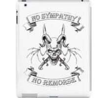 No Sympathy No Remorse Winged Skull with Swords iPad Case/Skin