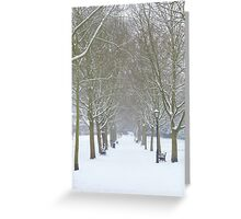 Winter Snowy Trees in Rochester - Kent Greeting Card