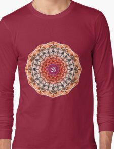 ORANGE OM MANDALA Long Sleeve T-Shirt