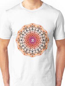ORANGE OM MANDALA Unisex T-Shirt