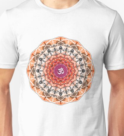 ORANGE OM MANDALA Unisex T-Shirt