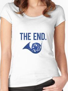The End. Women's Fitted Scoop T-Shirt