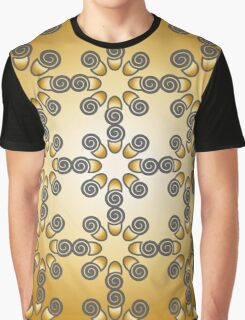 Pattern grey gold Graphic T-Shirt