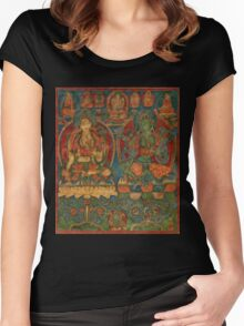 The White Tara and The Green Tara Women's Fitted Scoop T-Shirt