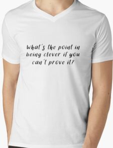 Sherlock - What's the point in being clever Mens V-Neck T-Shirt