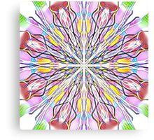 Stain Glass kaleidoscope Canvas Print