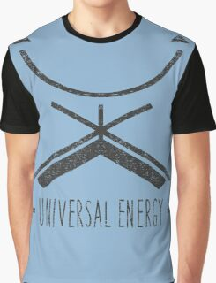 Universal Energy - Typography and Geometry Graphic T-Shirt