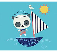 Panda Sailor Photographic Print