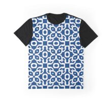 Blue Tapestry Graphic T-Shirt