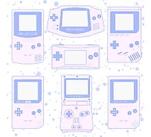 Pastel Handhelds Photographic Print