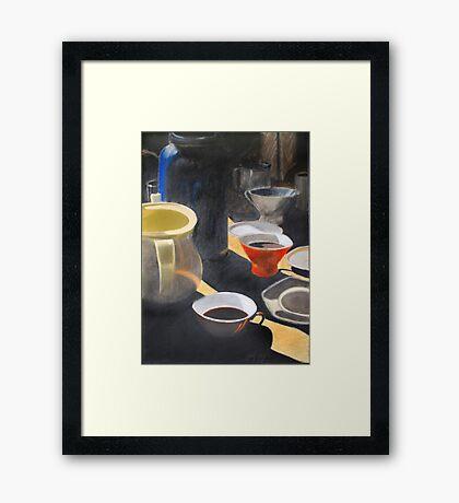 StudentenFrühstück Framed Print