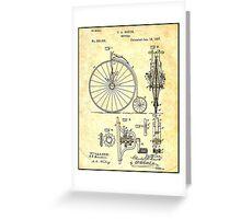 BICYCLE PATENT ; Vintage Papers Print Greeting Card