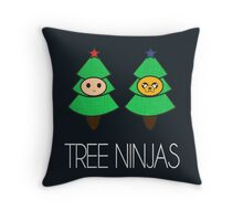 TREE NINJAS Throw Pillow
