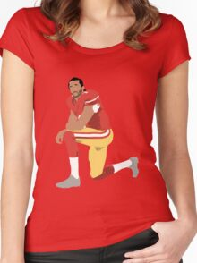 I'll take a knee with Kap Women's Fitted Scoop T-Shirt