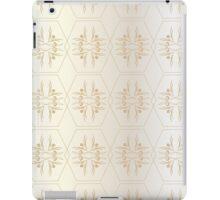 Pattern of hexagons Golden iPad Case/Skin