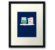 Building SnowMO (Red) Framed Print