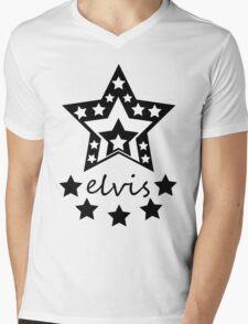 Elvis Star Mens V-Neck T-Shirt