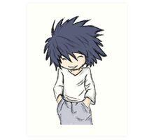 Death Note - L Chibi Art Print
