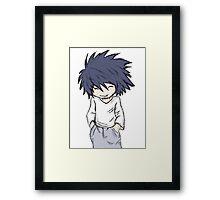 Death Note - L Chibi Framed Print