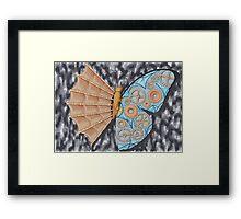 Schmetterling Evolution Framed Print