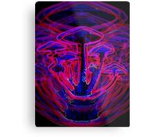 Neon Shrooms Metal Print